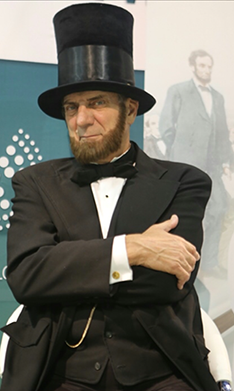 ton katsis as abe lincoln in las vegas